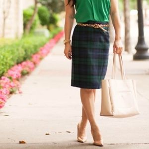 J. Crew The Pencil Skirt In Tartan Plaid